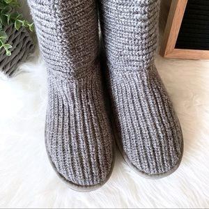 UGG Shoes - UGG Grey Classic Cardi Tall Boots